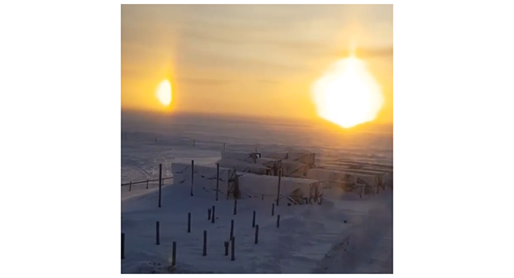 SPECTACULAR Three Suns Appear in the Sky Over Russia's Yamal