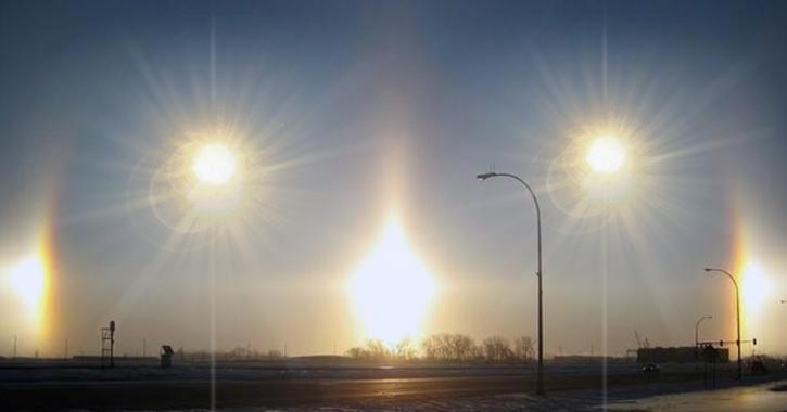 'Five Suns' Phenomenon in the sky over Inner Mongolia, China