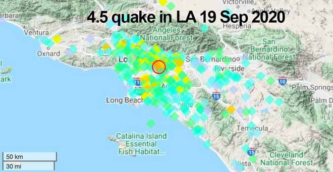 Southern California is rocked by a 4.5-magnitude earthquake - with tremors felt from Los Angeles to San Diego