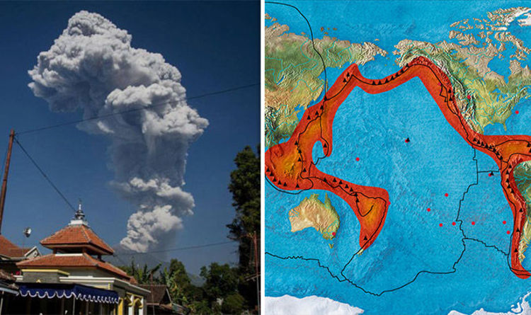 Volcanic Ring of Fire Heating Up