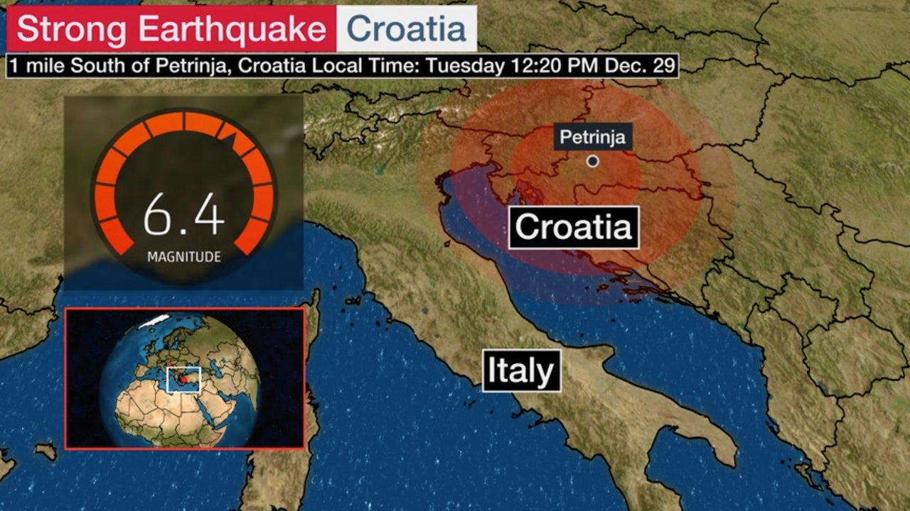 Strong 6.4M earthquake hits central Croatia