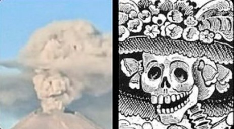 'The Elegant Skull' Appears in the Eruption of Mexico's Popocatepetl Volcano