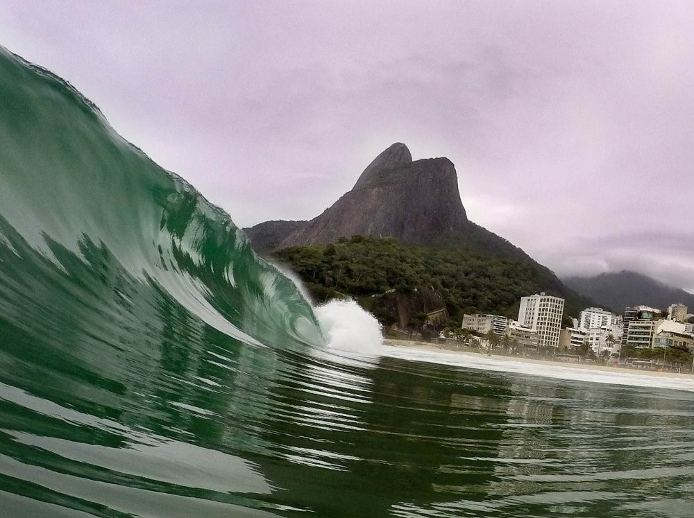 Large Waves Sweep Across Brazilian Beaches