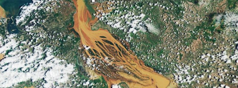 Massive floods in Madagascar seen from space