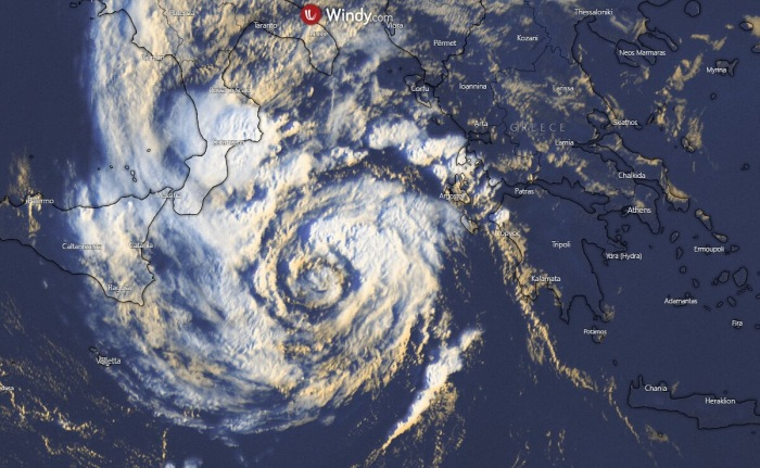 Rare Hurricane Force Storm Hits the Mediterranean