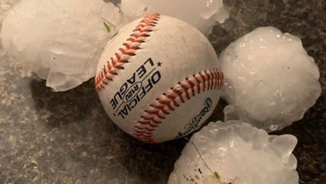 Violent  Baseball Size Hailstorm Sweeps Across Oklahoma and Missouri