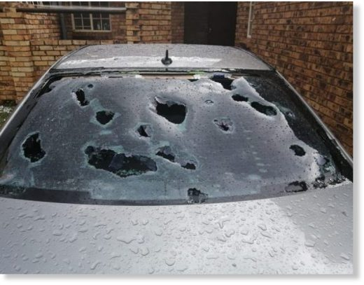 Massive hailstorm smashes windows and kills birds in South Africa