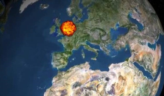 Fireball/Meteor over Northern Europe now thought to be earthgrazer