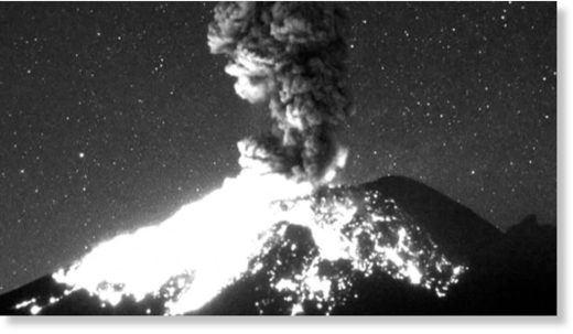 Popocatepetl eruption sends ash spiraling a mile into the sky