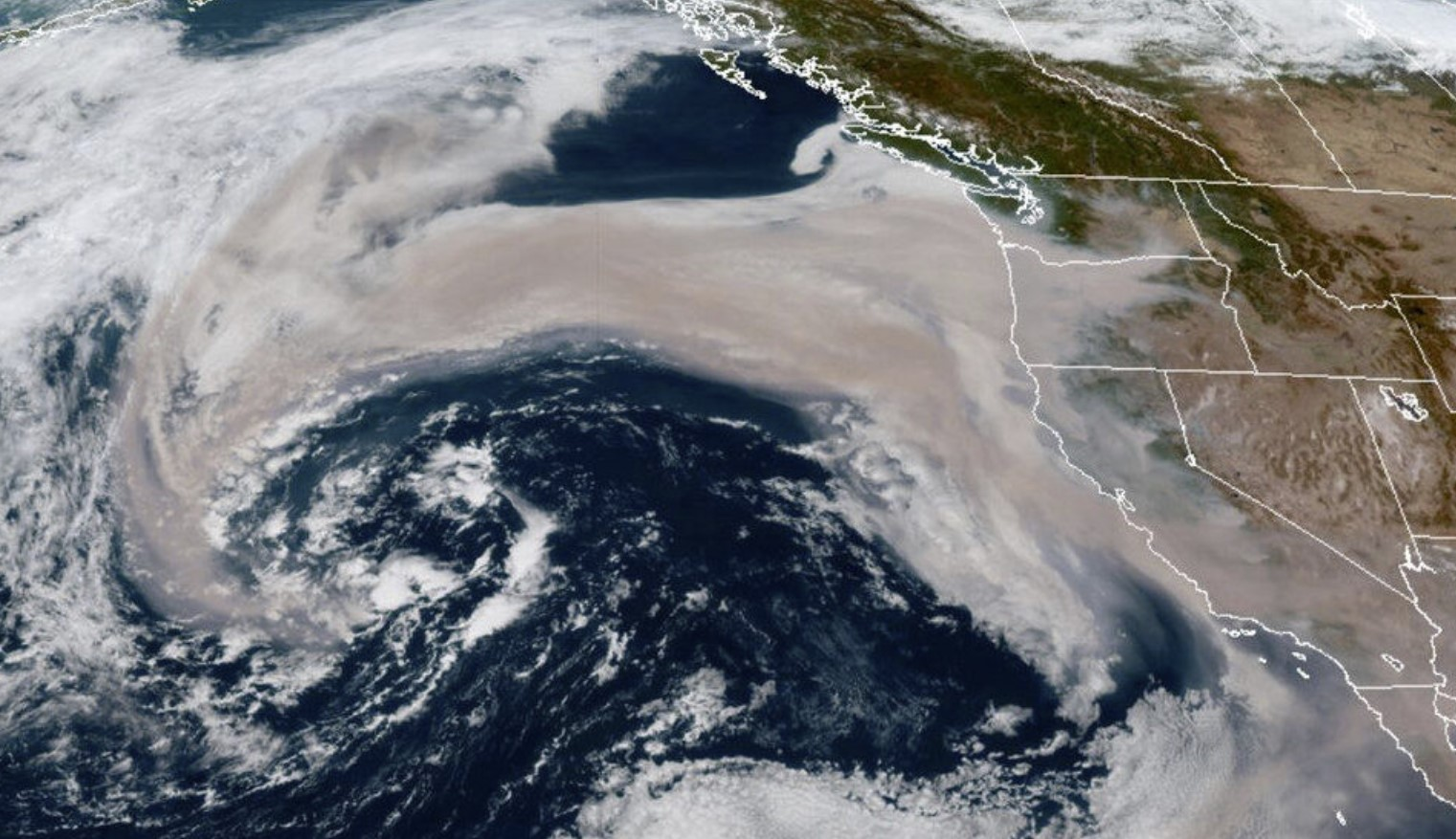Wildfire Smoke is Being Sucked into Pacific Jet Stream